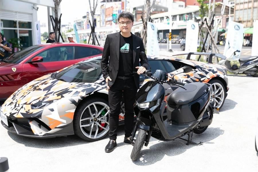 執行長林東閔指出Ai-1 Sport的設計規劃,皆以跑車級的質感所打造出的智慧電車。