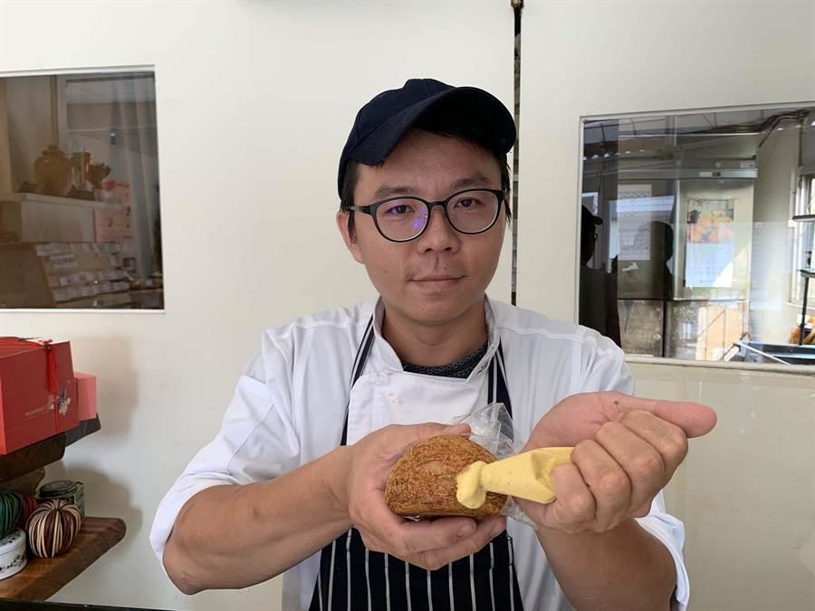 高雄鳳山「薇庭烘焙」出產的法式香草泡芙,標榜純天然手工製作,消費者可以吃得安心。(柯宗緯攝)