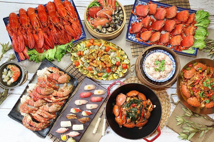 台中林酒店森林百匯即日起推出「感蟹祭」。(圖/業者提供)