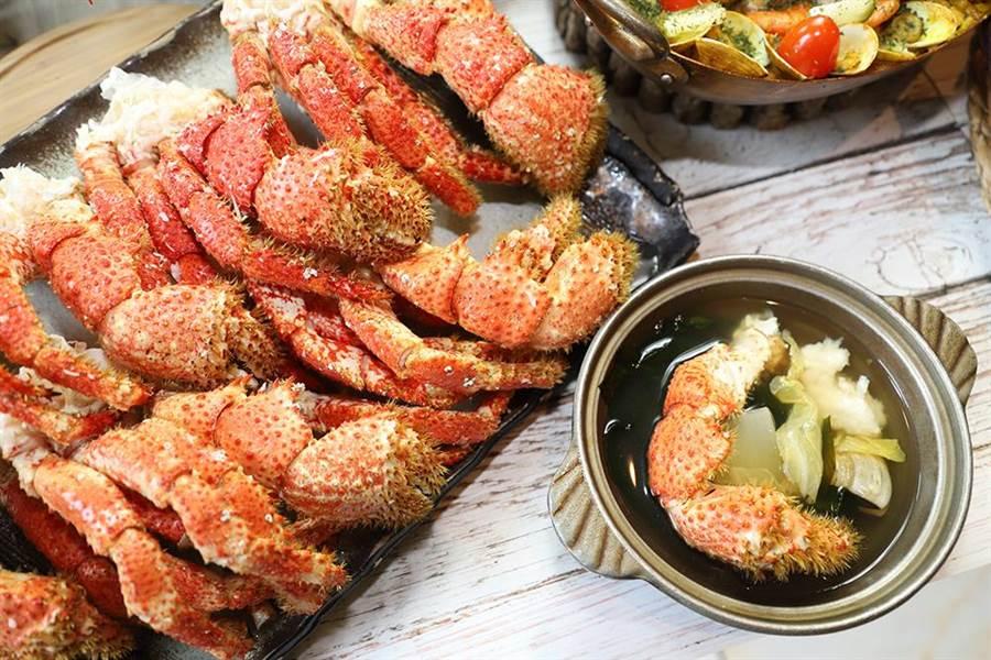 使用高湯熬煮,讓凸顯雪蟹的鮮甜。(圖/台中林酒店提供)