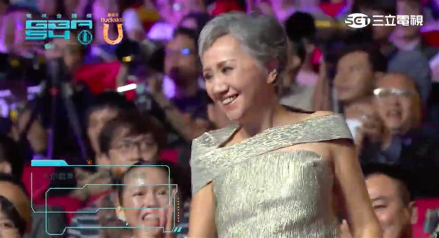 陸弈靜今年以《公視人生劇展-3天2夜》獲選迷你劇集/電視電影女配角獎。(截自三立網路直播畫面)