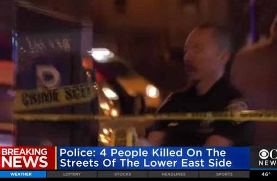 紐約發生4名街友遭殺害,1名重傷的連續殺人案。(圖/擷自CBS New York)