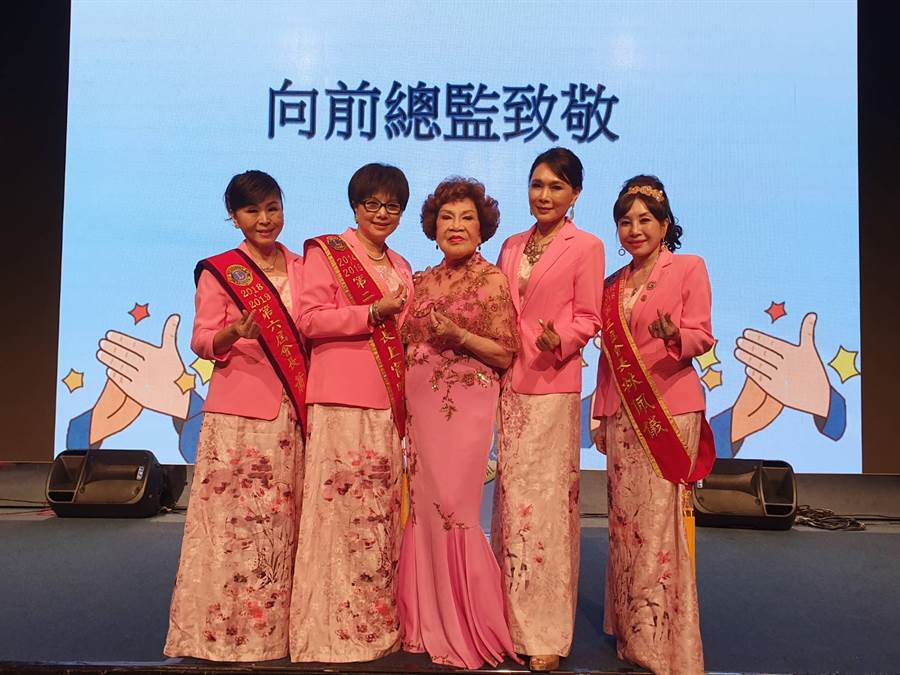 名製作人周遊、藝人上官明莉、蕭惠等出席台北明星獅子會。(照片/游定剛 拍攝)