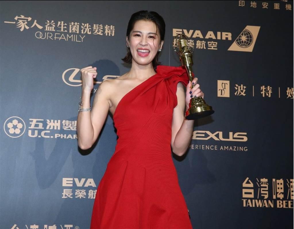 第54屆電視金鐘獎戲劇女配角獎得主曾沛慈。(中時影視攝影組攝)
