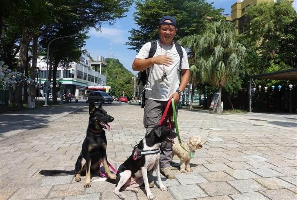 寵物訓練師林宥褕移居台東。(楊漢聲攝)