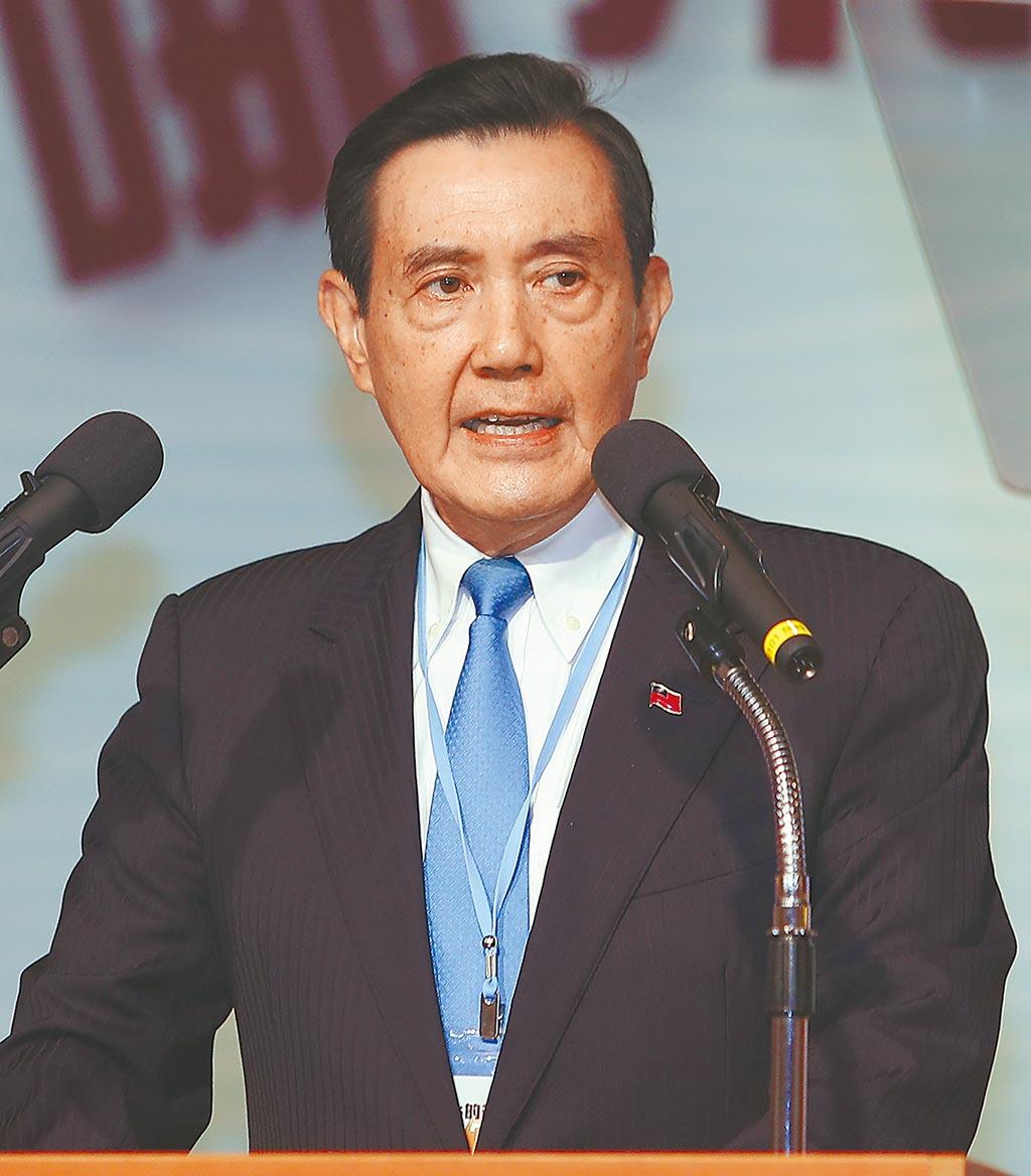 台灣的國安問題研討會5日舉行,前總統馬英九在致詞時痛批蔡英文政府的兩岸政策不當,會將台灣未來帶入不確定的危險。(季志翔攝)