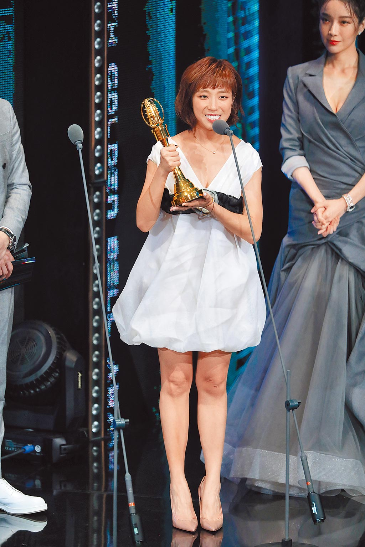 梁舒涵以《女兵日記》奪下新進演員。(影視攝影組攝)
