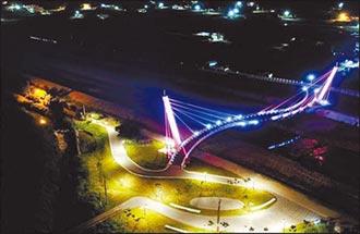 西湖溪景觀橋 點亮銅鑼夜晚