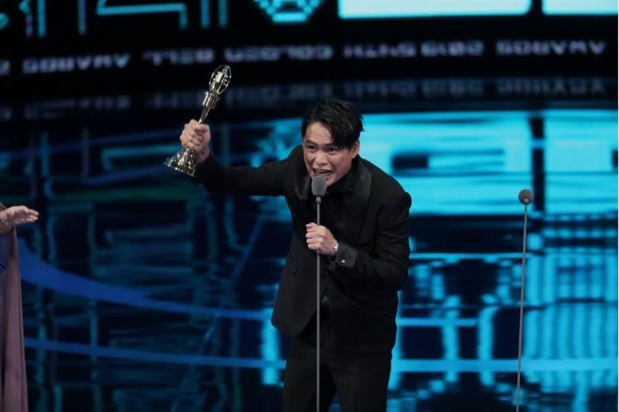 金鐘54迷你劇集(電視電影)男配角獎得主黃鐙輝。(中時影視攝影組攝)