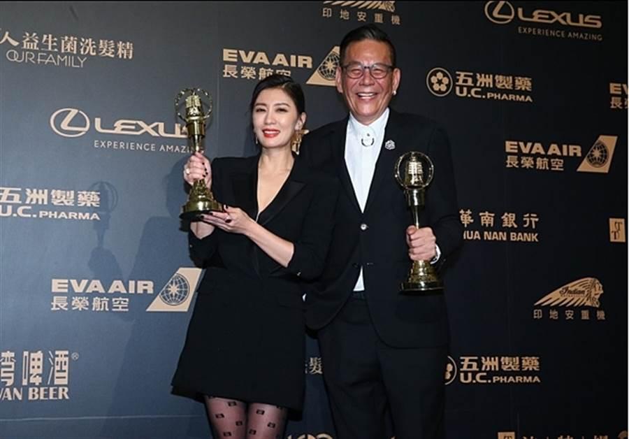 賈靜雯、龍劭華今年分別獲得金鐘視后、視帝大獎。(圖/中時影視攝影組攝)