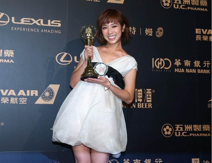 梁舒涵奪戲劇節目新進演員獎。(影視攝影組攝)