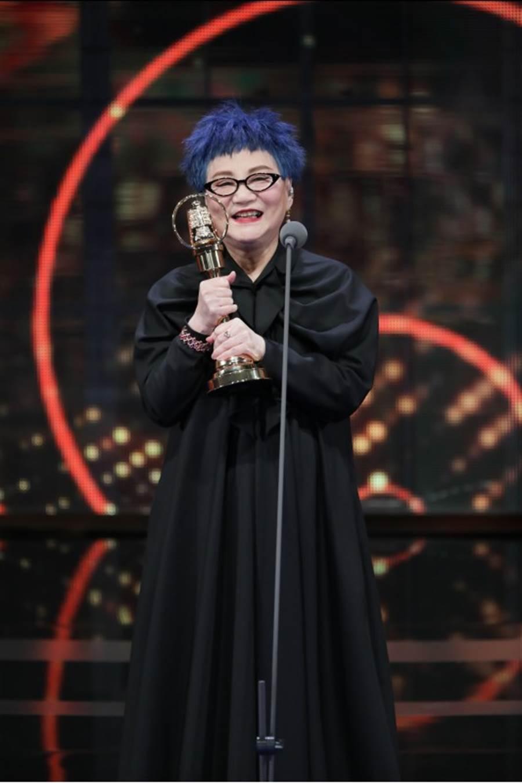 第54屆金鐘獎終身成就獎得主-張小燕。(影視攝影組攝)