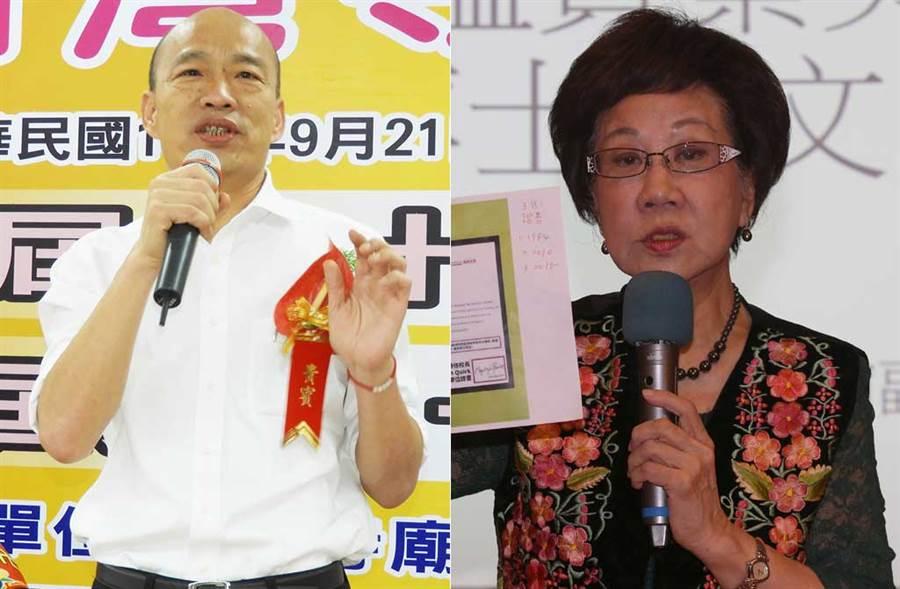 資深媒體人陳季芳推薦韓國瑜找呂秀蓮搭檔,氣死柯文哲。(中時資料照片)