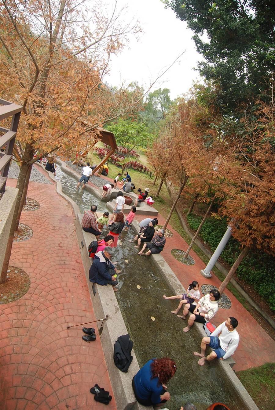 東勢林場的濯足園。(台中市政府觀光旅遊局提供/陳世宗台中傳真)