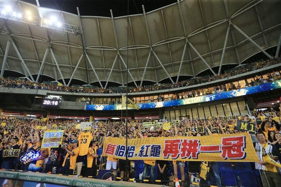 中信兄弟與Lamigo桃猿是中職最有人氣的2支球隊,有望締造場場滿場的紀錄。(黃國峰攝)