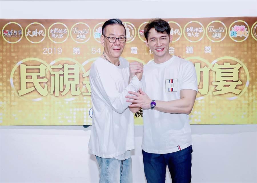 龍劭華、溫昇豪今年金鐘獎同時入圍兩獎項,最後各抱回一座。(圖/羅永銘攝)