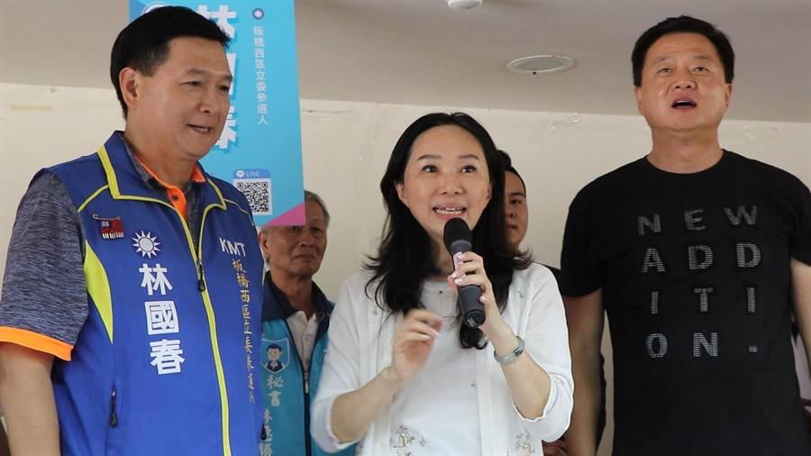 國民黨總統參選人韓國瑜夫人李佳芬今(6)日下午至板橋健華新城,為國民黨立法委員參選人林國春站台。(吳亮賢攝)