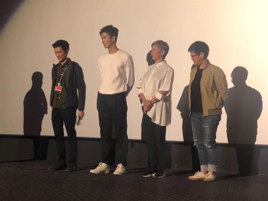 導演徐漢強、演員曾敬驊、監製李烈和李耀華共同出席釜山影展映後座談。(牽猴子整合行銷提供)