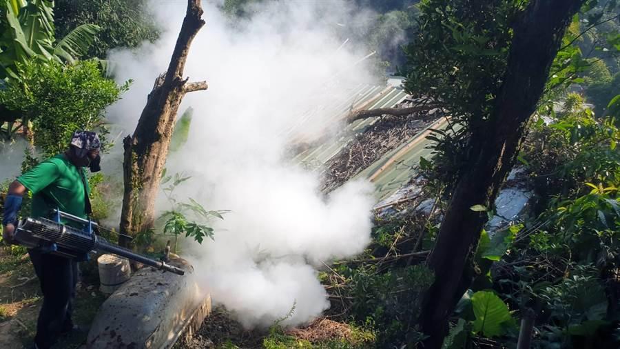 新北市衛生局6日公布新北市新增1例登革熱確診病例,病患家住樹林坡內里。