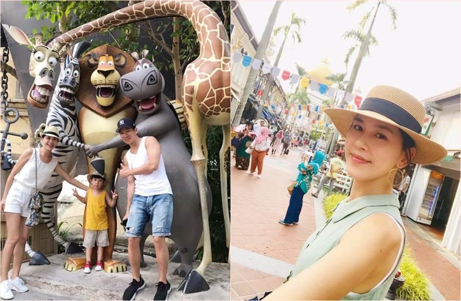 張家慧一家到新加坡遊玩,沒想到竟首度遇上小朋友在國外感冒發燒。(圖/周子娛樂提供)