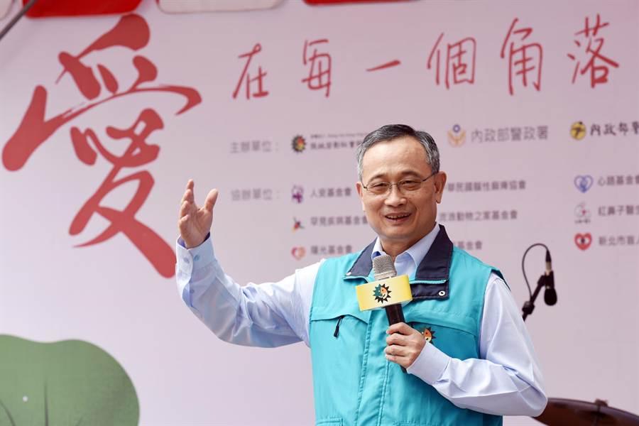 警政署長陳家欽表示,警政署與基金會都希望能幫助需要照顧的人。(張姚宏影社福慈善基金會提供/廖德修傳真)