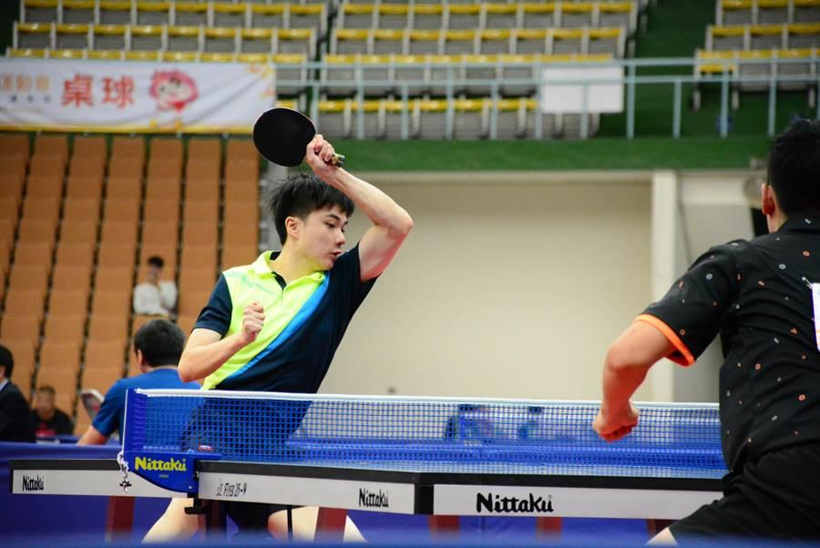 全運會桌球今天進行最後一天賽程,男單林昀儒收下金牌。(桃園市政府提供/陳筱琳傳真)