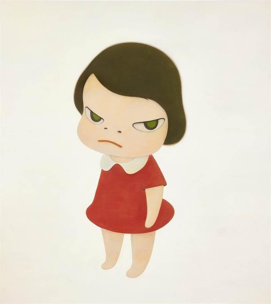(日本當代藝術家奈良美智《背後藏刀》逾7.7億台幣成交。圖/蘇富比提供)