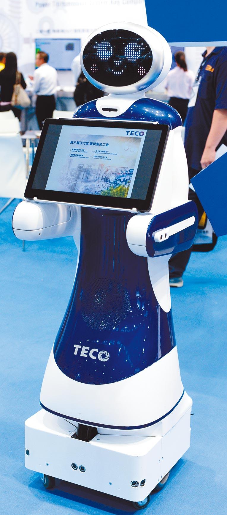 AI做了人類不想做的工作,或幫助承擔工作量,圖為亞洲工業4.0暨智慧製造系列展展出的機器人。(本報資料照片)