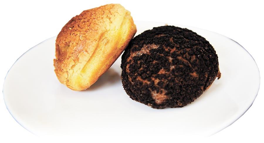 「芙芮莉烘焙坊」的泡芙內餡飽滿,一口咬下,內餡汩汩流出,常讓人措手不及。(王昱凱攝)