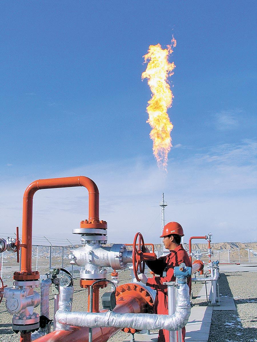 中石油塔里木克拉氣田作業區技術人員在工作中。(新華社)