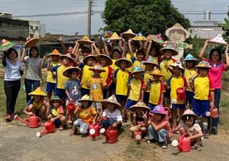 東榮國小自然農法課程 學童自己種田加菜