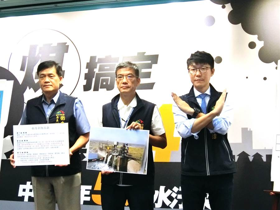台中市府新聞局長黃國瑋(右)7日強調,中火或台電一直用缺電這樣的帽子,扣在我們中部人身上,實在是不公平。(盧金足攝)
