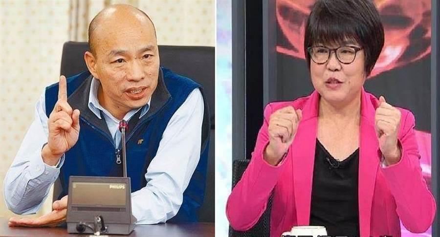 高雄市長韓國瑜(左)、資深媒體人黃光芹(右)。(圖/合成圖,本報資料照)