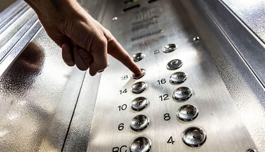 醫院電梯按鍵也容易散播病菌,建議可以用其他物品替代觸摸。(圖片來源:pixabay)