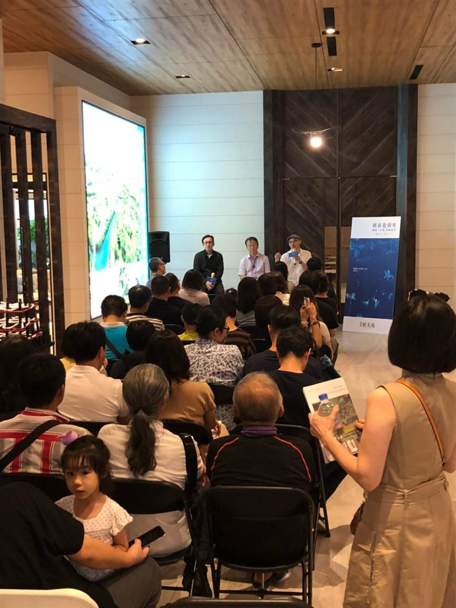 藝術家賴新龍獲邀開個展,在南台灣最美接待會館展至11/17。(柯宗緯攝)