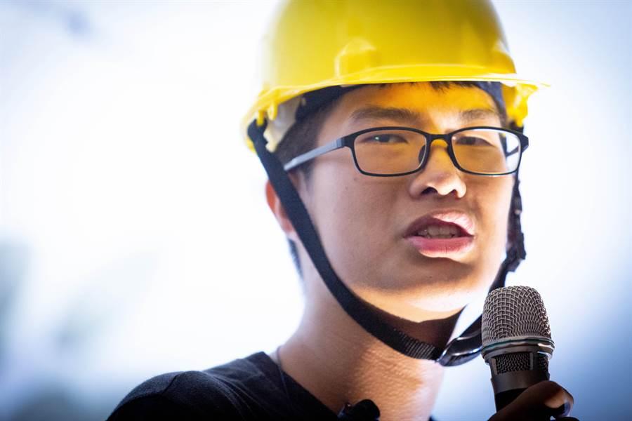 中山大學學生會會長莊皓鈞表示,「連儂隧道」是一個所有人都能自由說話的地方。 (袁庭堯攝)