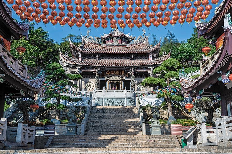 湄洲島媽祖祖廟是全球媽祖信眾的朝聖中心。(周麗川攝)