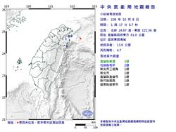 凌晨連2震!宜蘭最大規模4.7 網嚇喊天龍國有感