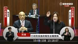 藍委拍桌怒嗆 蘇貞昌:這有像立委的水準?