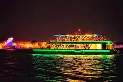 國慶連假東港出招 「光雕秀船班」帶你夜遊大鵬灣
