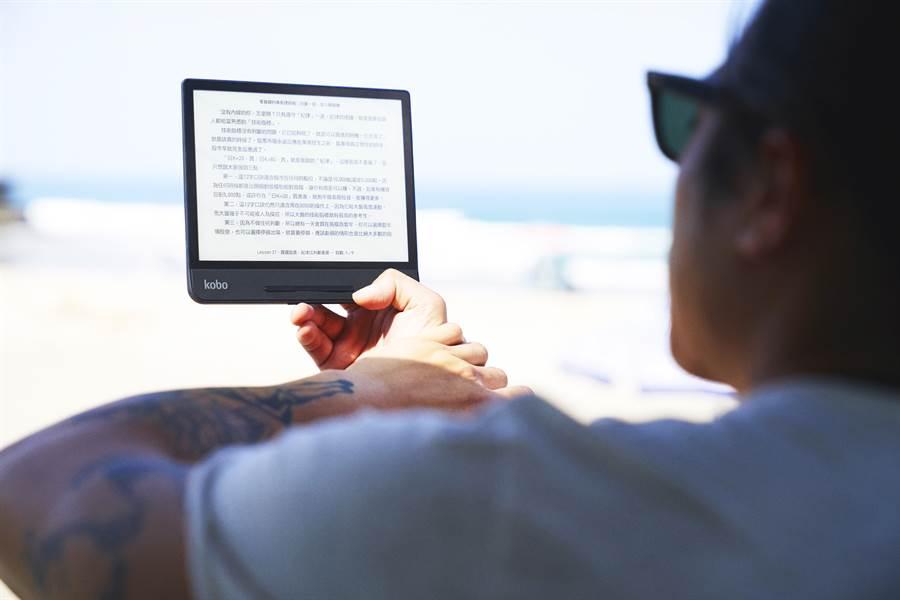 樂天Kobo針對Kobo Forma帶來了一項全新功能,讀者可與知名線上儲存服務公司Dropbox的應用程式配合使用。(樂天Kobo提供/黃慧雯台北傳真)
