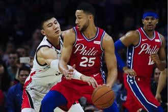 NBA》陳盈駿先發 廣州龍獅慘敗七六人