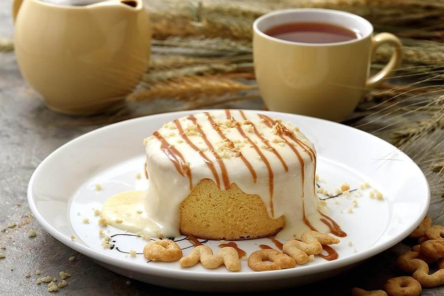 杏桃鬆餅屋的「熔岩系厚鬆餅」,也很吸引人。(圖/杏桃鬆餅屋)