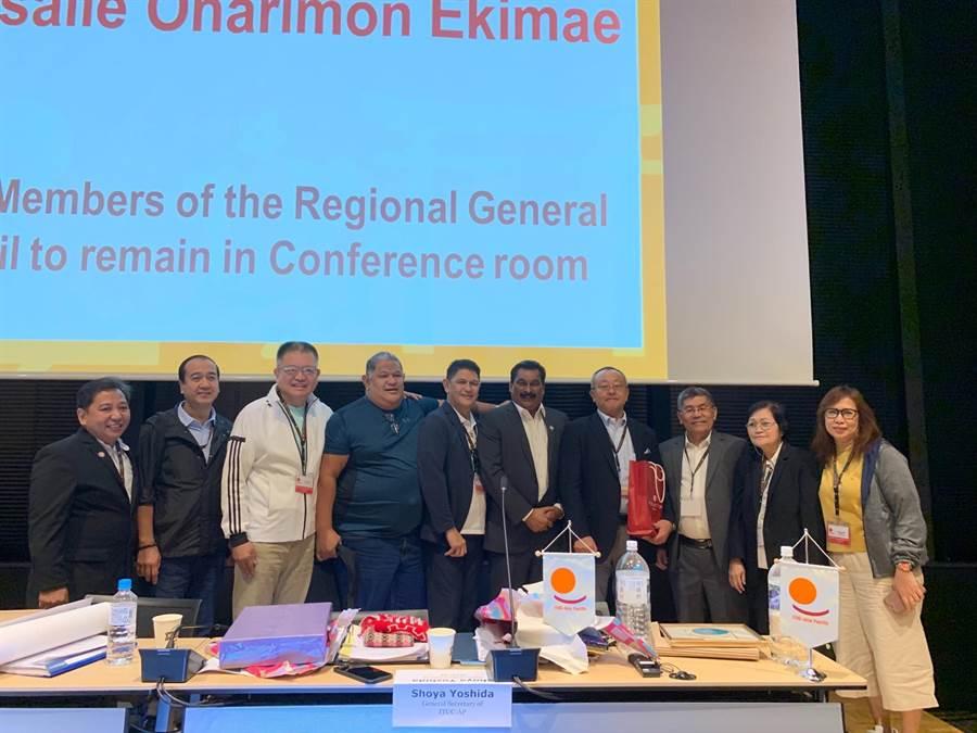 中華民國全國總工會率團前往日本東京參加「國際工會聯合會」(ITUC)亞太地區大會。(圖/全國總工會提供)