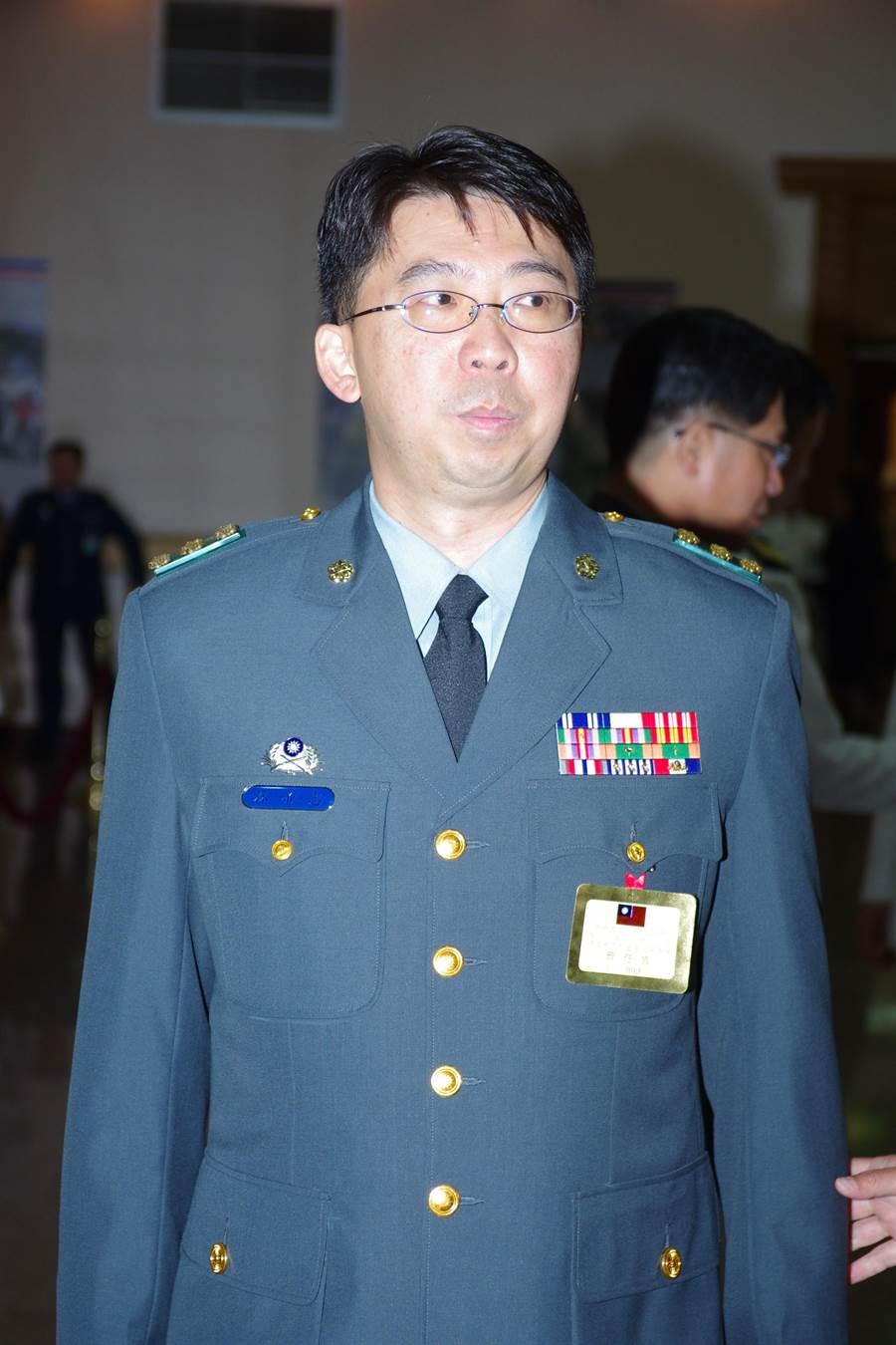 前金防部參謀長林帝志少將。呂昭隆攝