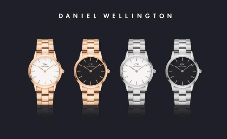 DW 全新匠心作品-ICONIC LINK,有銀色與玫瑰金兩個款式搭配黑與白不同錶盤,並提供三種不同尺寸錶面,售價分別為28mm NT6,000 32mm NT6,000 36mm NT6,500(DANIEL WELLINGTON提供)