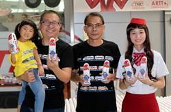台鐵國慶發表普悠瑪號造型水 設計師扮台鐵小姐賣水助流浪動物