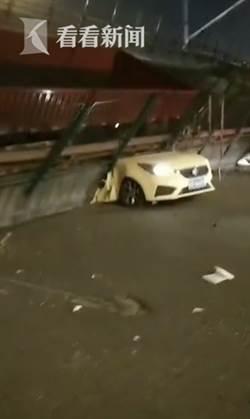 無錫高架橋無預警坍塌 下方車輛只剩車頭