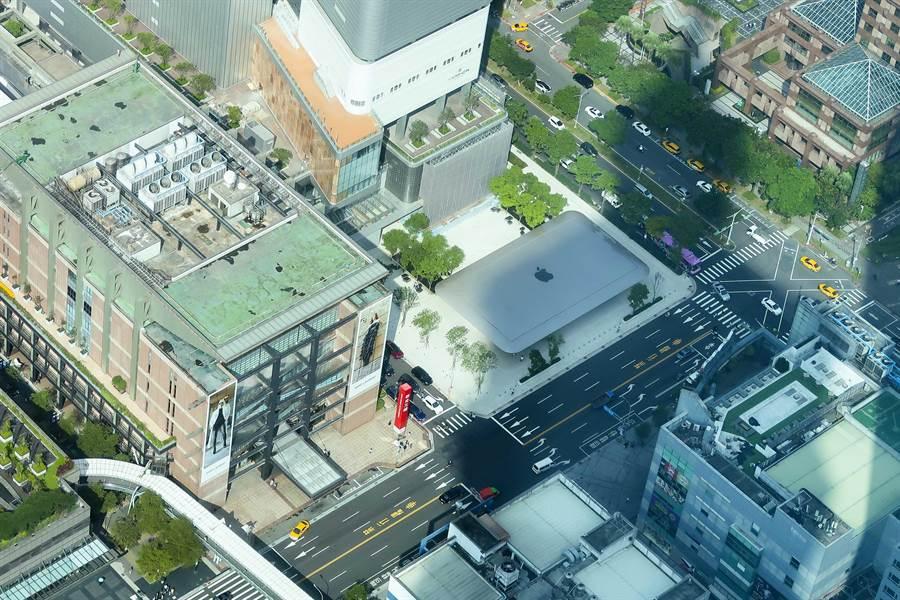 Mac外殼所設計的屋頂(圖/張雅琪攝)