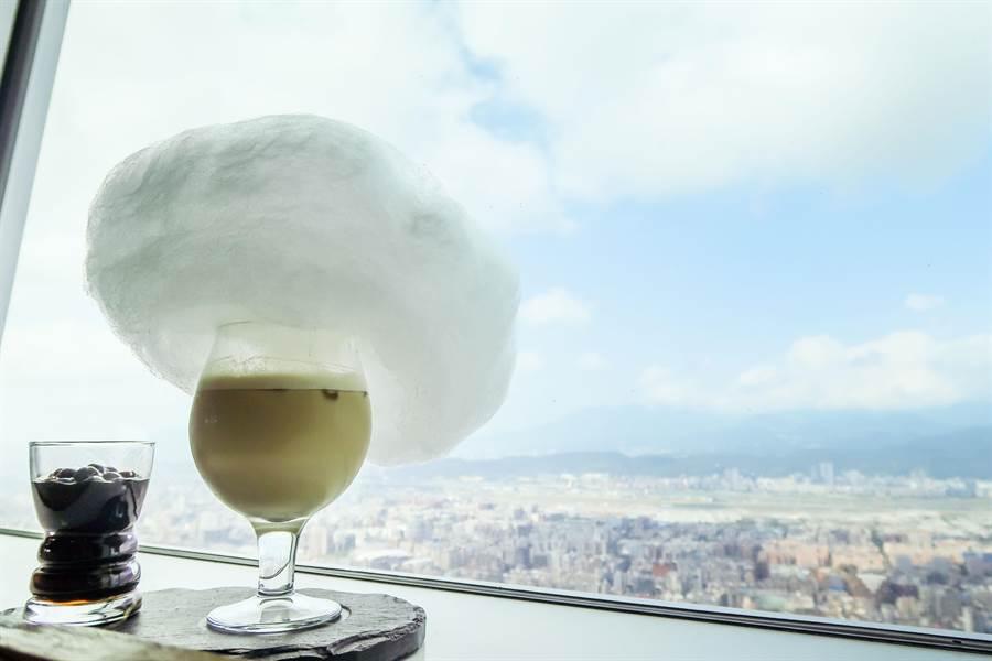 雲朵珍奶品嘗鬆軟的棉花糖(圖/張雅琪攝)